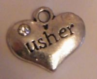 Usher Personalised Wine Glass Charm - Full Bead Style